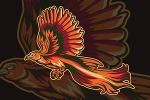 vector de dibujo a mano de ilustración de pájaro paraíso