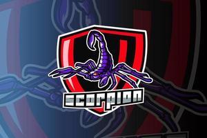 plantilla de logotipo del equipo de deportes electrónicos scorpion vector