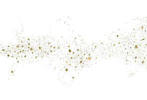 Light gold glitter confetti background 3d stars vector