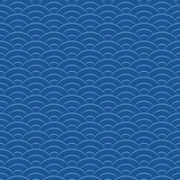 asiático, japonés, onda, seamless, patrón vector