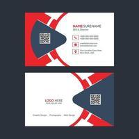 Business card template design vector