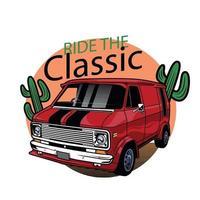 vector classic transport travel car design