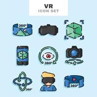 Virtual Tour Icon Set vector