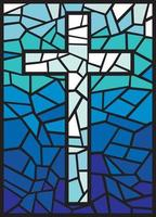 Stained Glass Cross vector