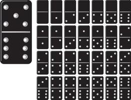 colección de dominó vector