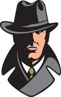 diseño de icono de detective privado vector