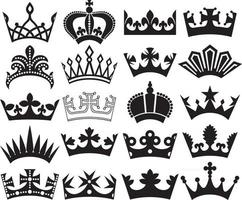 Crown Collection Icons Design vector