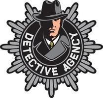 insignia o símbolo de la agencia de detectives vector