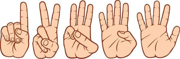 Finger Counting Set vector