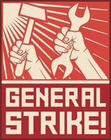 cartel de huelga general vector