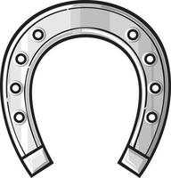 Silver Horseshoe Icon vector