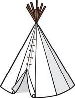wigwam indio americano vector