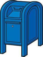 buzón azul vector