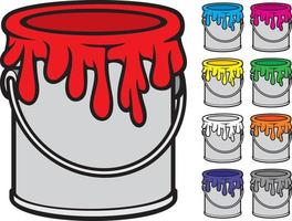Paint Buckets Collection vector