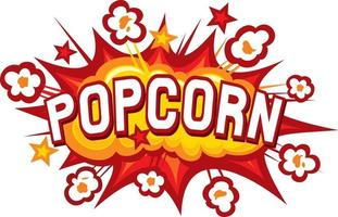 Popcorn Icon Design vector