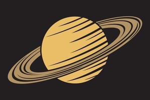 icono de planeta saturno vector