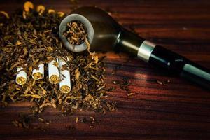Unhealthy Addiction Nicotine Tobacco Pipe Cigar photo