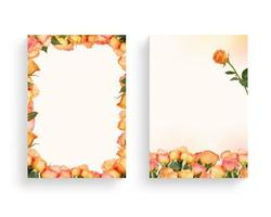 Beautiful spring flower frame, invitation, wedding card photo