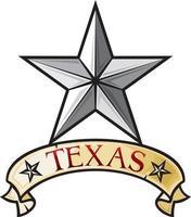 símbolo de la estrella solitaria de texas vector