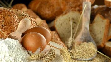 Delicious Fresh Mix of  Bread Food Concept photo