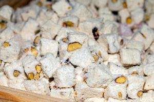 deliciosa y dulce delicia turca foto