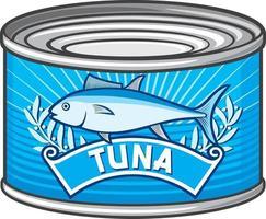 Can of Tuna vector