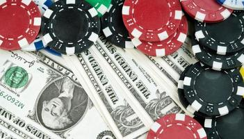 Money Chips and Gambling Cards photo
