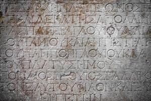 símbolos históricos signos alfabetos del antiguo egipto foto