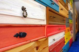Colorful Wooden Drawer photo