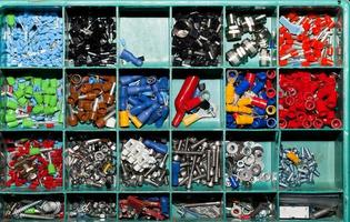 Industrial Concept Group of Metal Screw photo