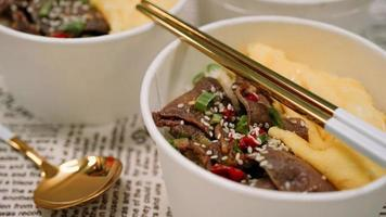 Gyutan is a Japanese food that is made from grilled beef tongue photo