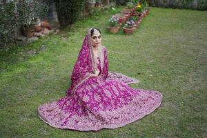 girl in bridal wear photo