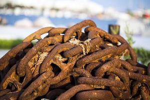 Abstract Grunge Rusty Metal Chain photo