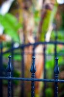 Abstract Architecture Design of Iron Fences photo