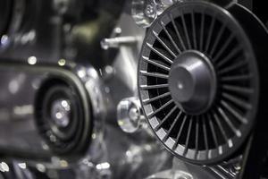 Modern Technology Cars Motor Engine Macro photo