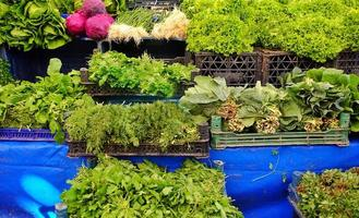 vegetales verdes saludables y frescos foto