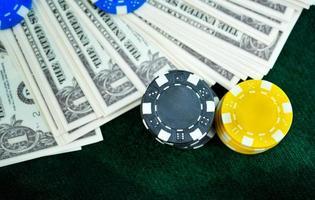 Money and Gambling Chips photo