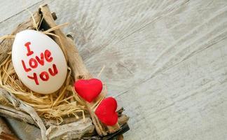 te amo escribe en huevo foto
