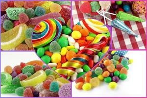 caramelo dulce paleta azucarada collage foto