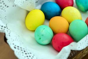 Paschal Colorful Easter Eggs photo