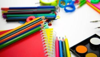 herramientas de equipo de educación escolar foto