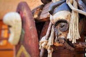 Máscara africana antigua vintage abstracta foto