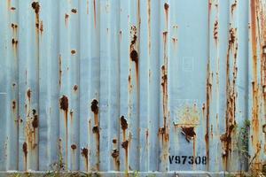 Blue grunge metal plate texture. photo