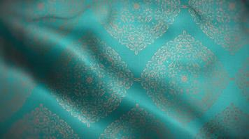Teal Flag with Brown Luxury Pattern video