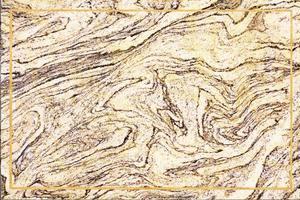 borde de oro mineral marrón y mármol de granito crema foto