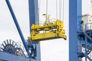 Giant Quay Crane on the port yard photo