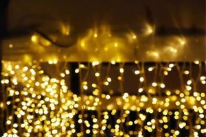 desenfoque abstracto amarillo dorado foto