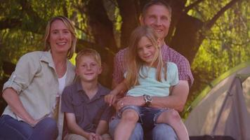 Portrait of camping family video