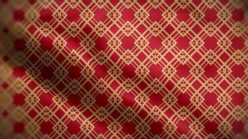 Yellow Chinese Pattern Over a Red Background Flag video