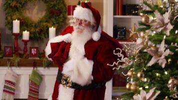 jultomten vinkar och säger god jul video